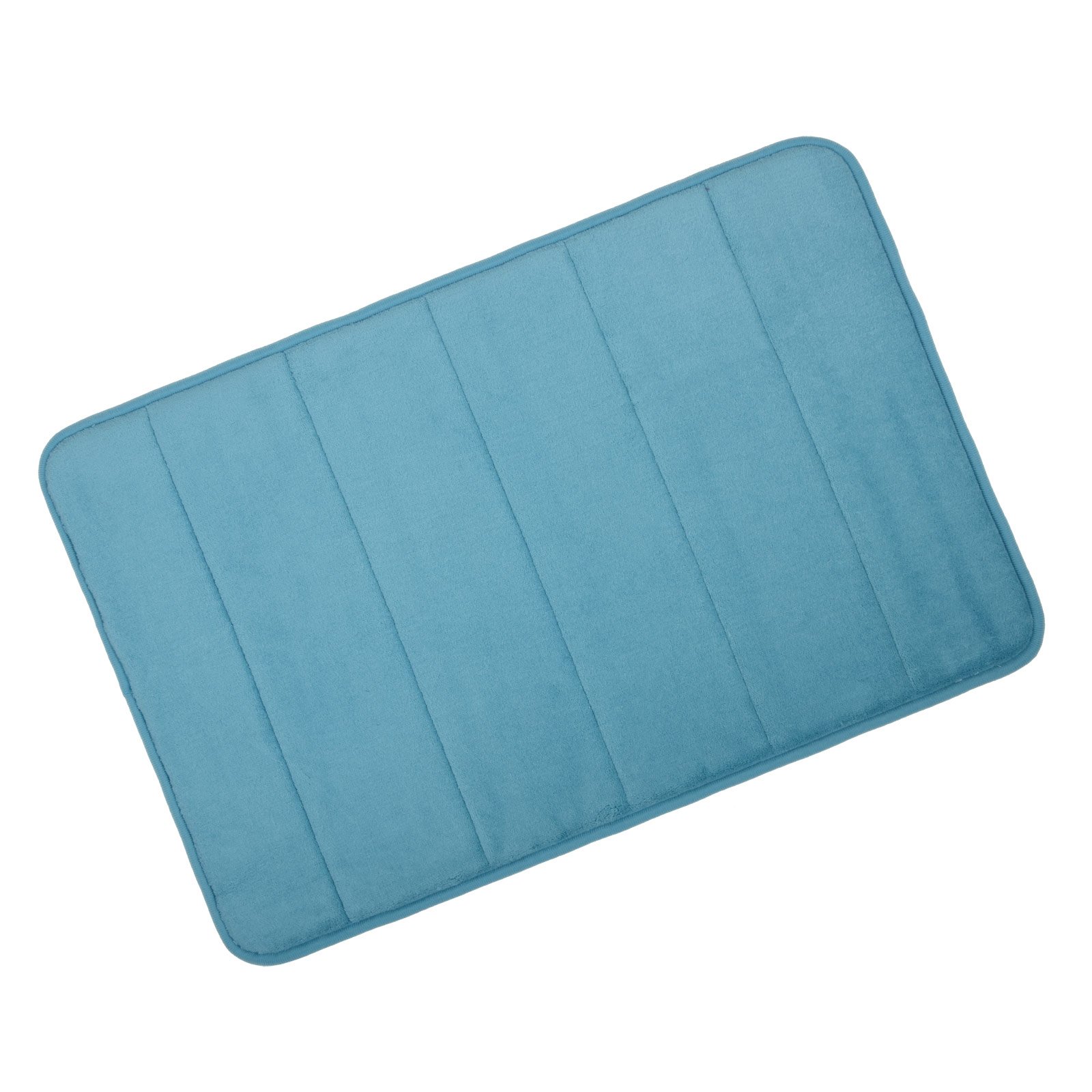 interesting blue teal bath mat color for bathroom
