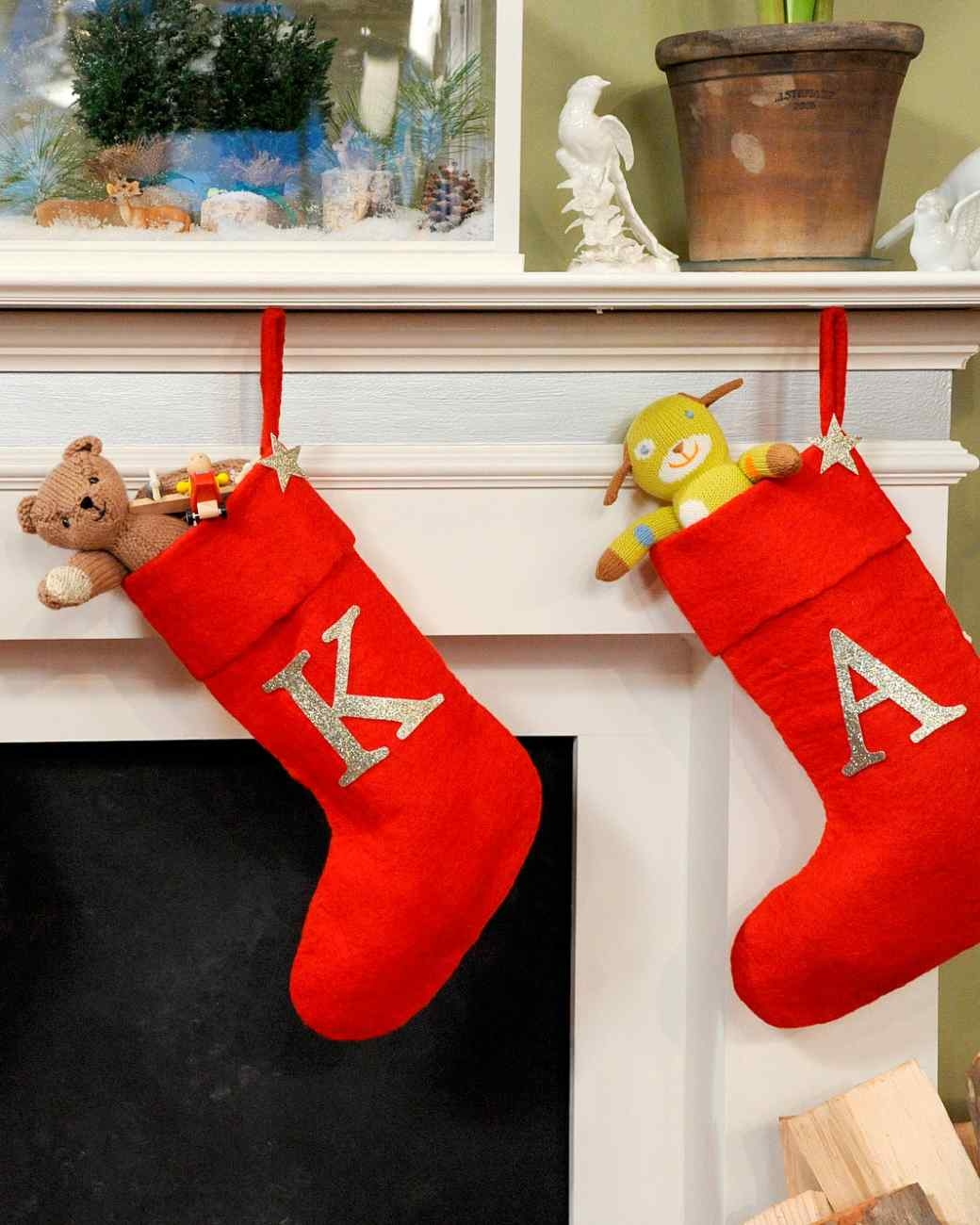 interesting monogrammed stockings in the christmas display for living room ideas