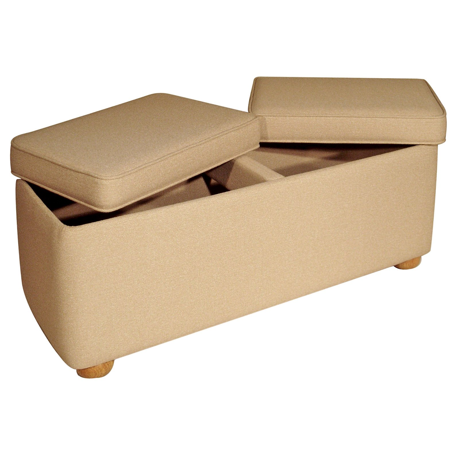 interesting storage benches with cream color
