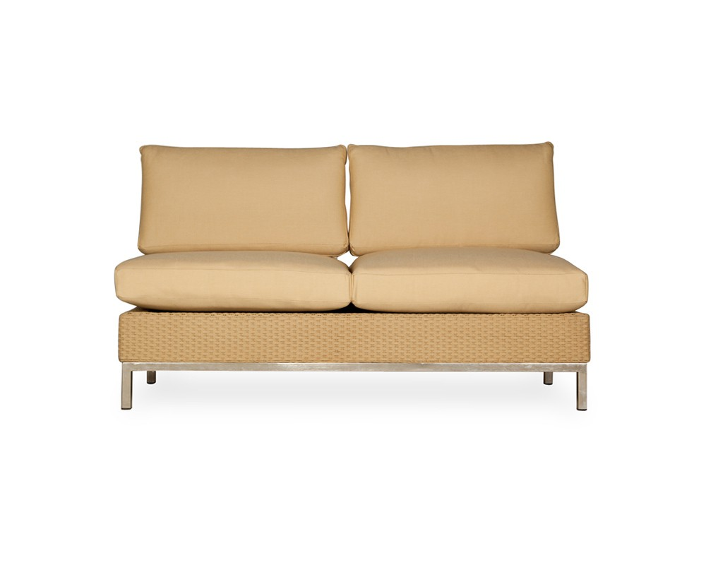 interesting unique cream orange elements sofa armless settee