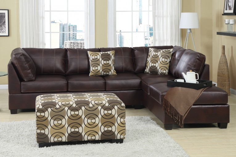 Leather Sectionals Sofas With Leather Ottoman