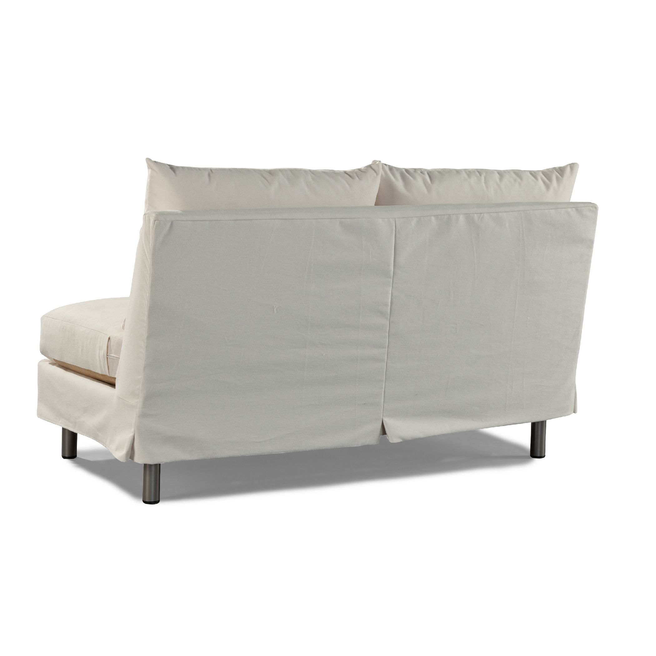 luxury amazon white armless settee last venture
