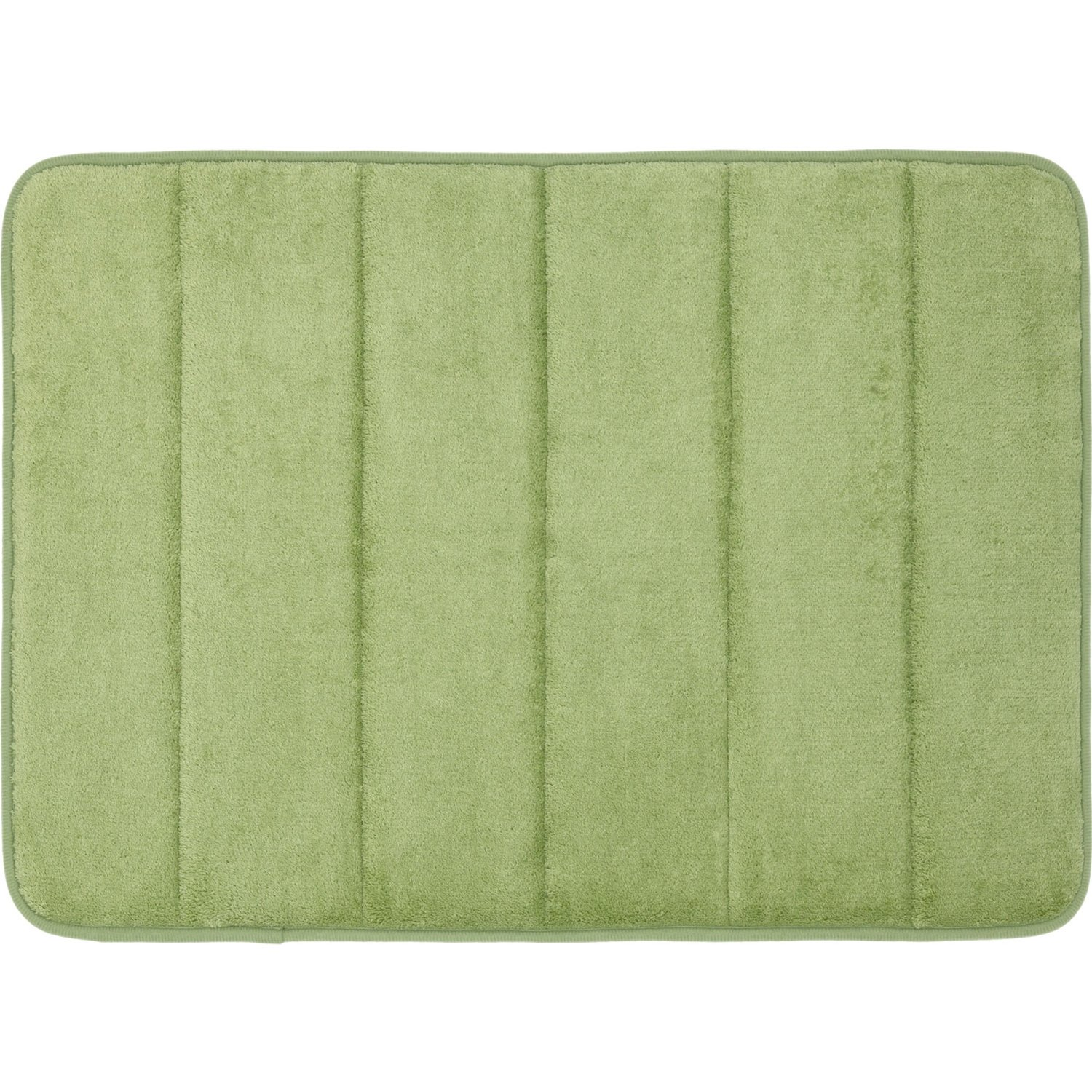 luxury green long bath mat with runner set