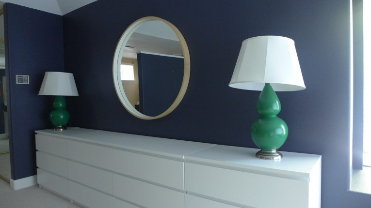 Mesmerizing Malm 6 Drawer Dresser With Round Mirror Wall