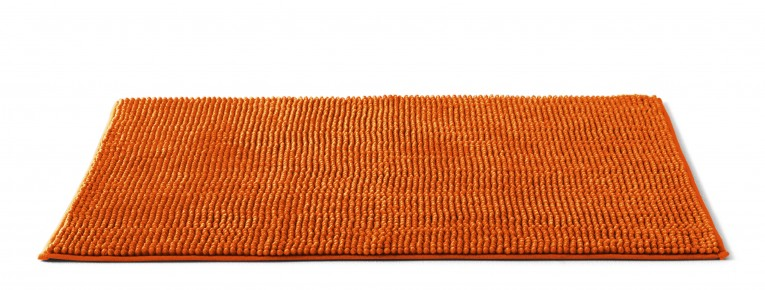 Mesmerizing Orange Bath Mat Long Range Mat