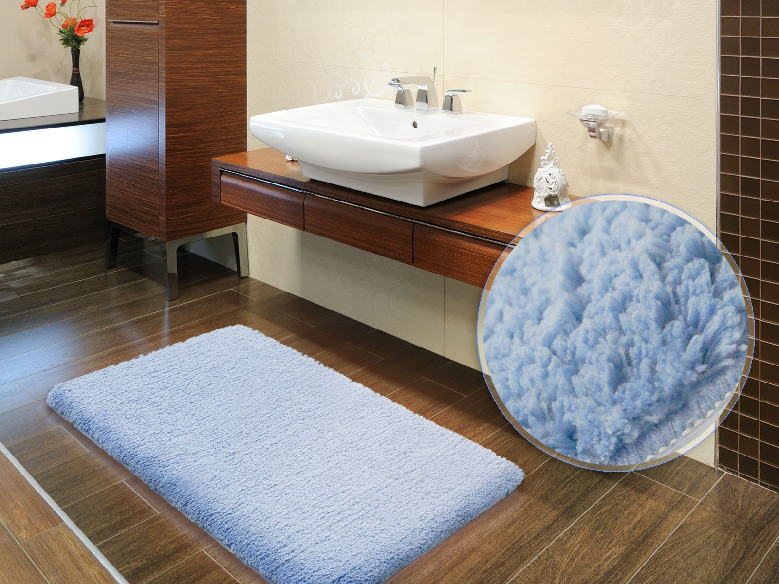 mesmerizing square fluffy bath mat with porcelain floor and bath countertop ideas