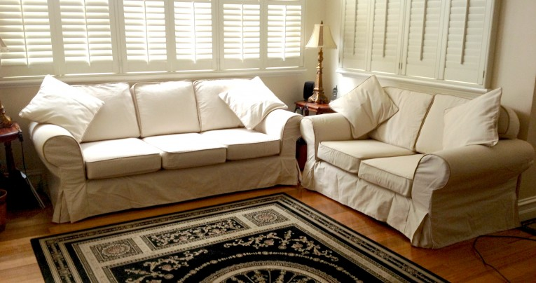 Mesmerizing White Sectional Sofa Covers With Rugs