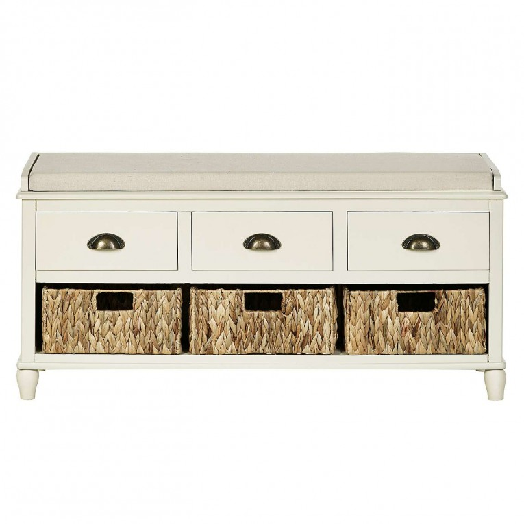 Nice Hallway White Storage Benches Portland Ideas With 6 Drawers
