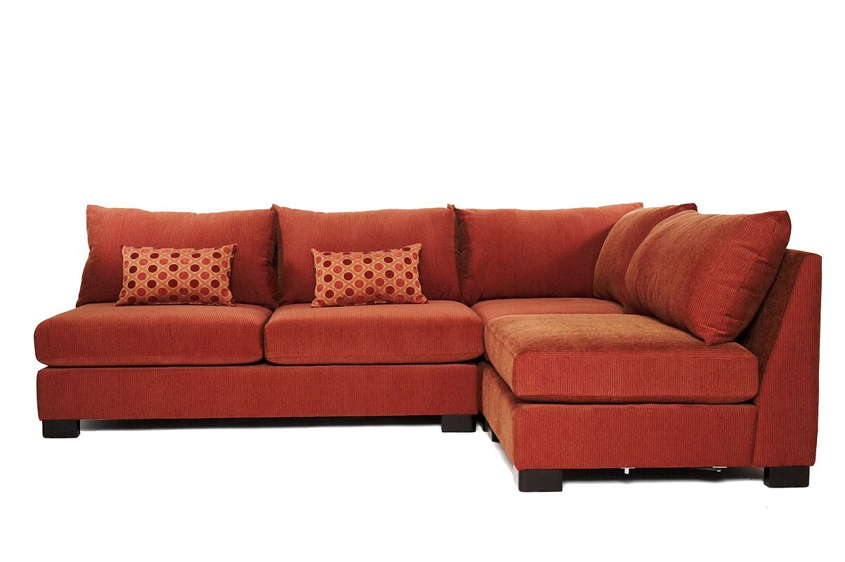 nice red sectionals sofas with cushion