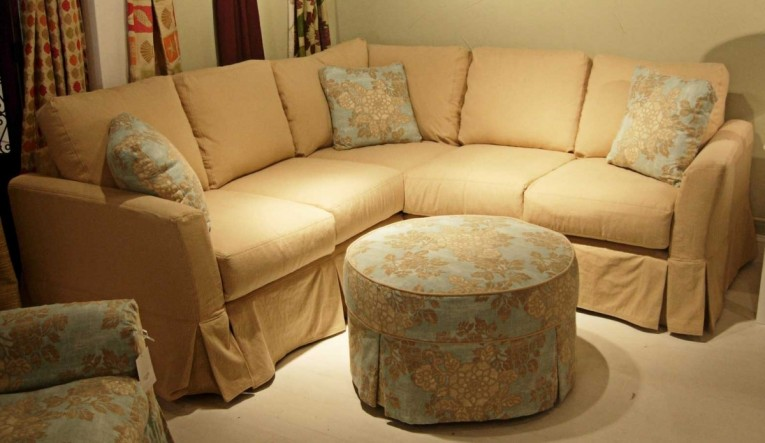 Old Cream Sectional Sofa Covers With Cushion