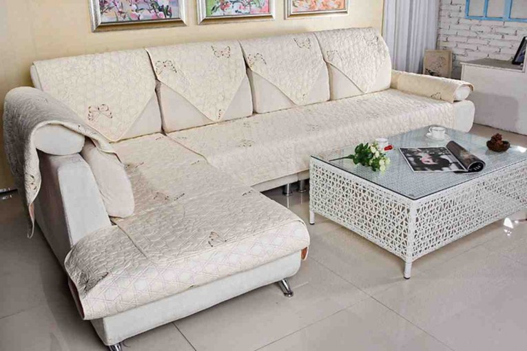Old White Sectional Sofa Covers With Cushion