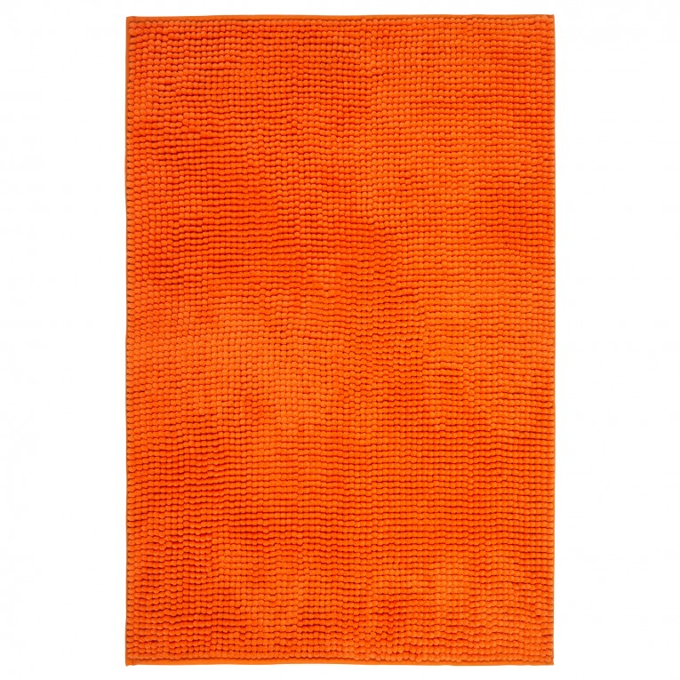 Orange Bath Mat Lenght 35 For Bathroom Textiles