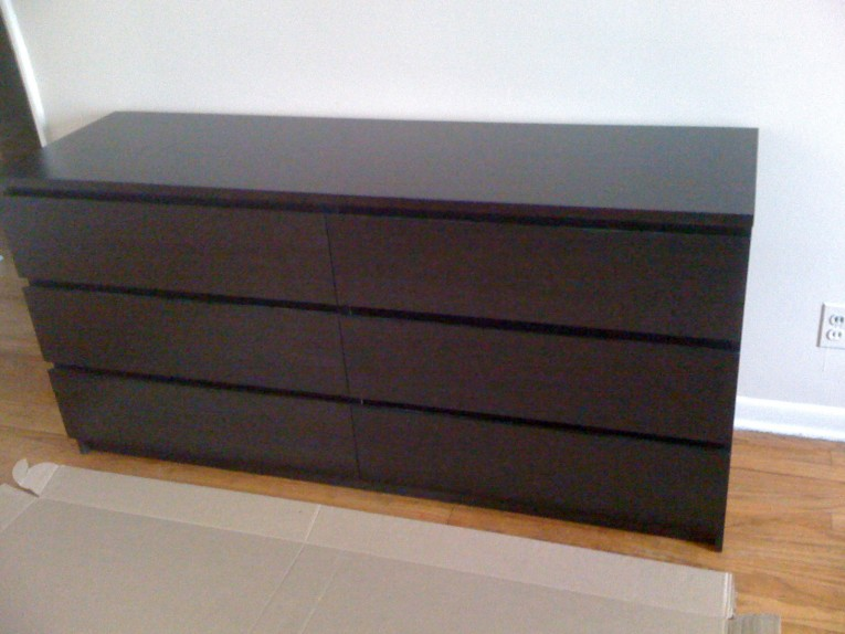 Original Malm 6 Drawer Dresser