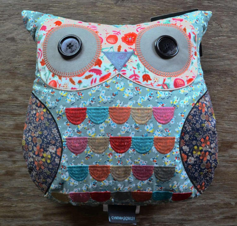 Cynthia Rowley Embroidered Patchwork Owl Pillows