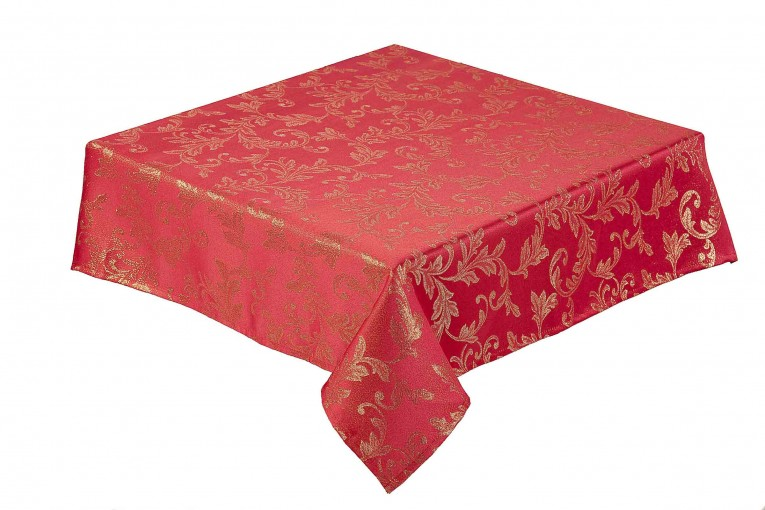 Red Oblong Tablecloth With Table Oblong Tablecloth