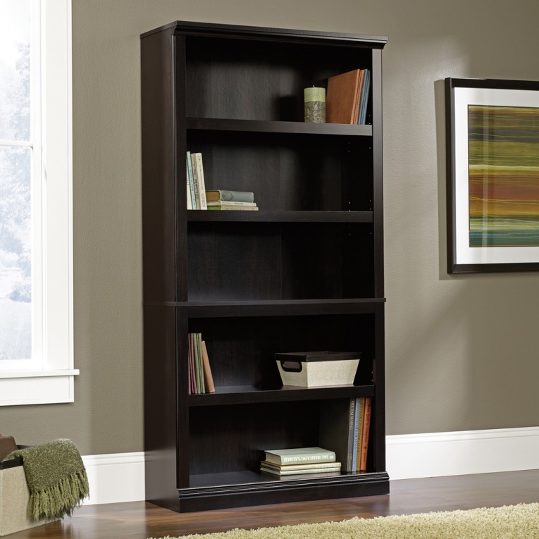 Remarkable Sauder Bookcases With Rugs And Laminate Flooring Plus Window Treatments For Living Room Ideas