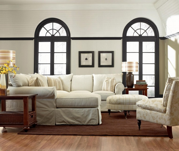 Sectional Sofa Covers With Lamps And Ottoman Plus Laminate Flooring