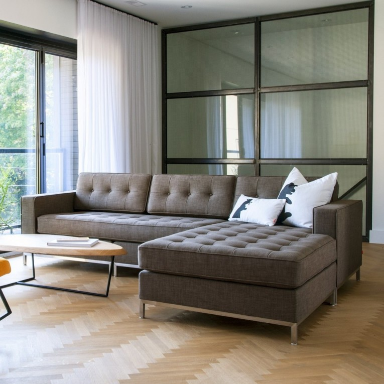 Sectionals Sofas Combined With Glass Window