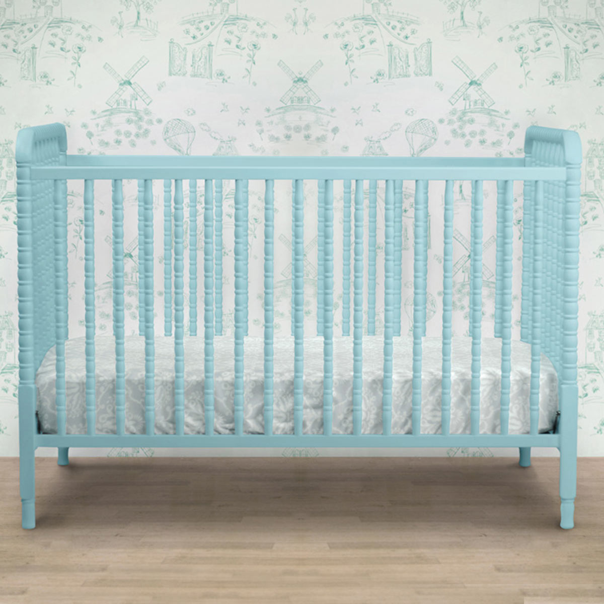 simple blue baby crib from simplybabyfurniture
