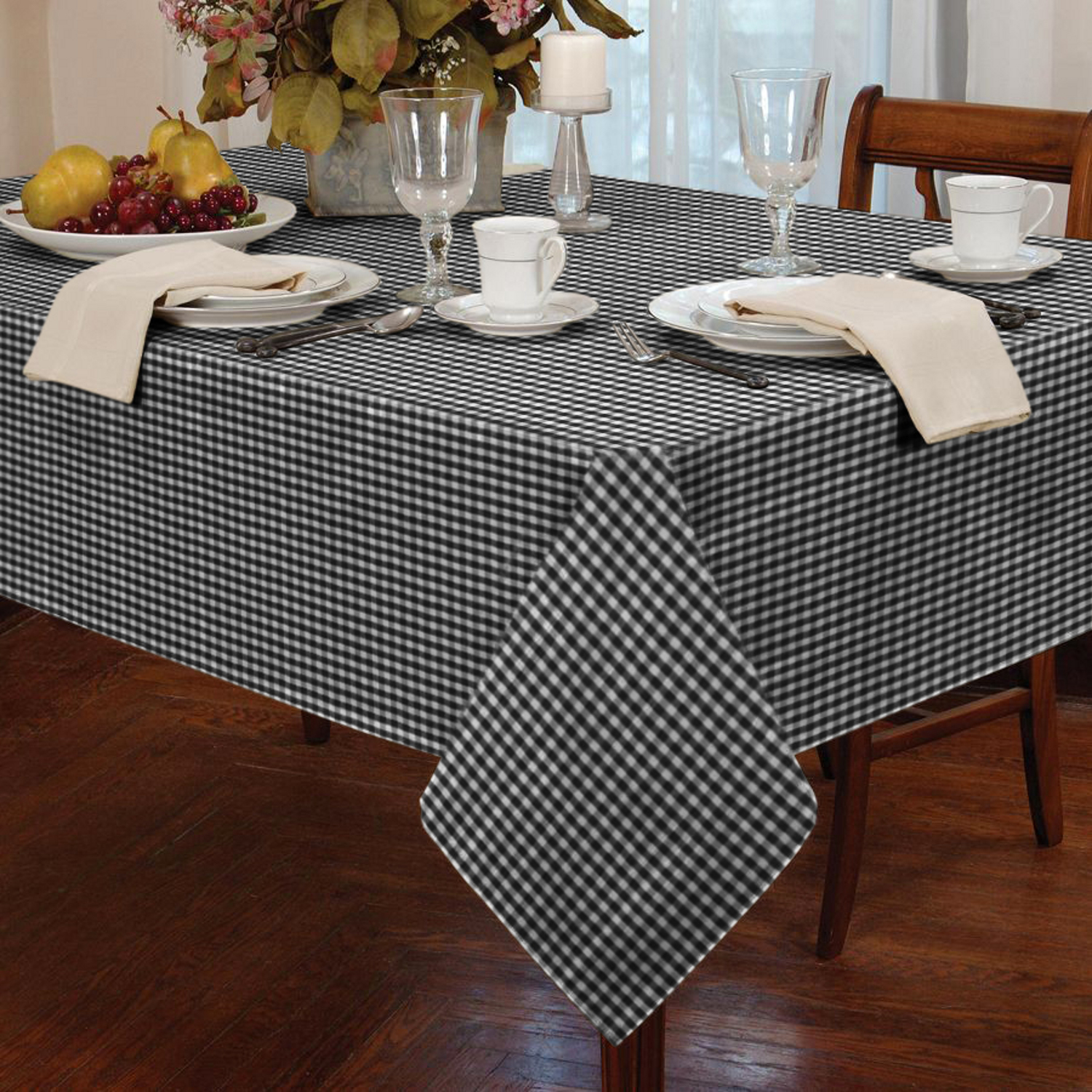 simple classic old time oblong tablecloth