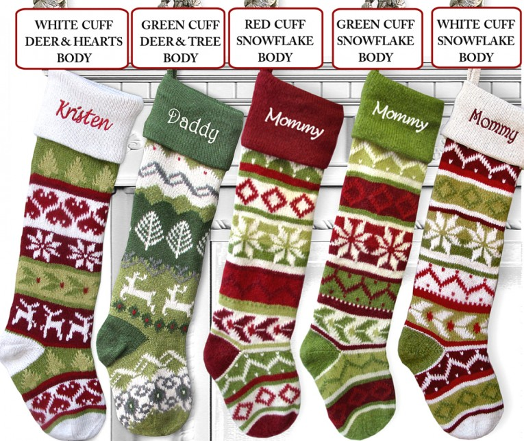 Simple Modern Monogrammed Stockings In The Christmas Display For Living Room Ideas