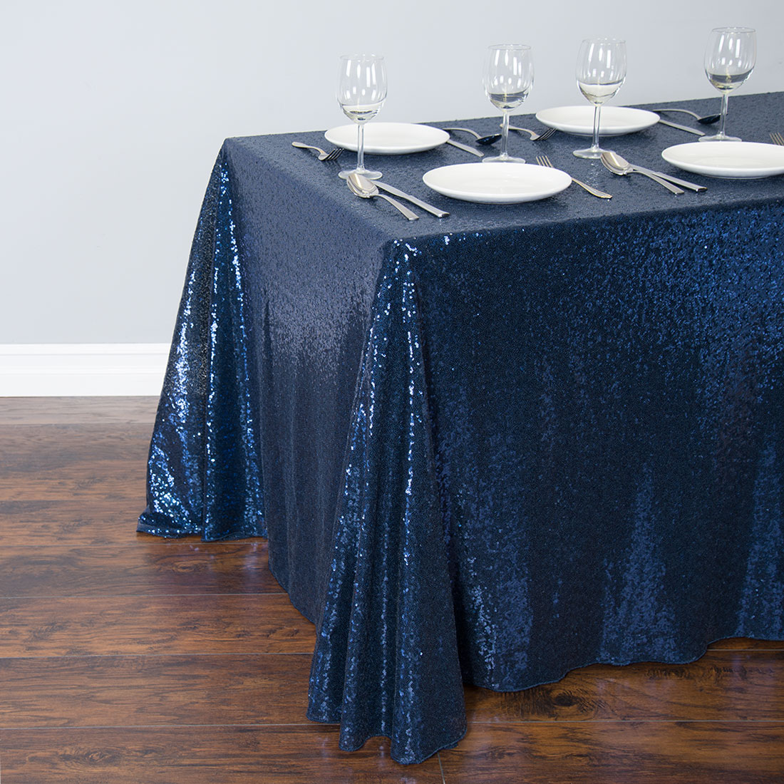 unique blue blinking oblong tablecloth