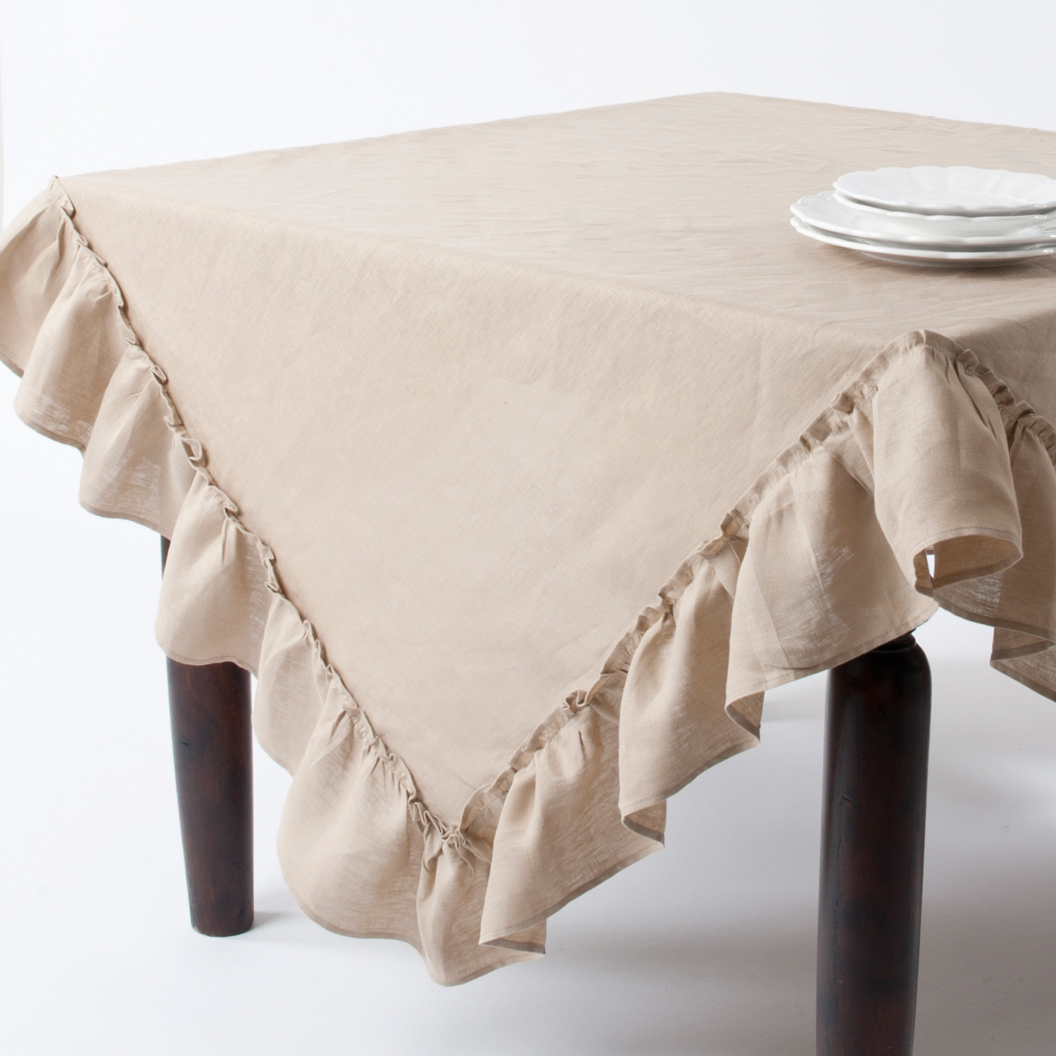 unique cream oblong tablecloth for home decor