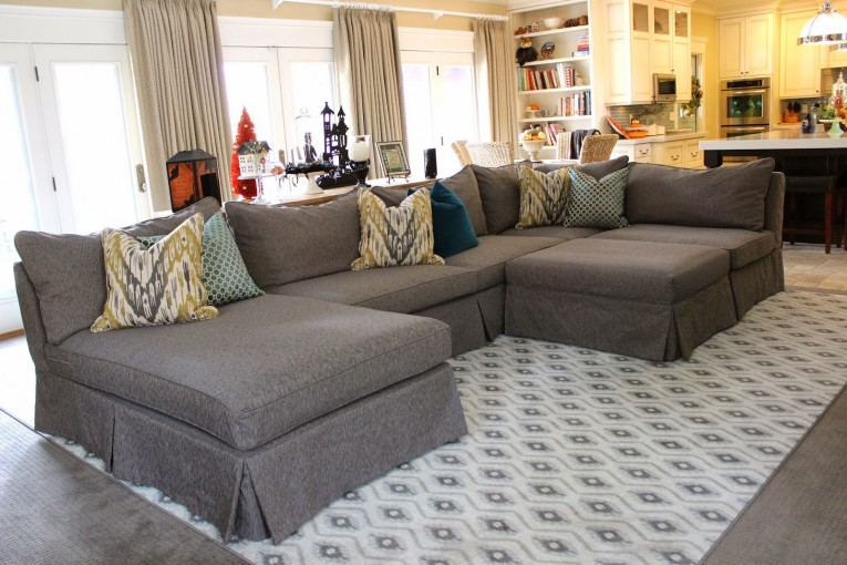 Unique Large Gray Sectional Sofa Covers