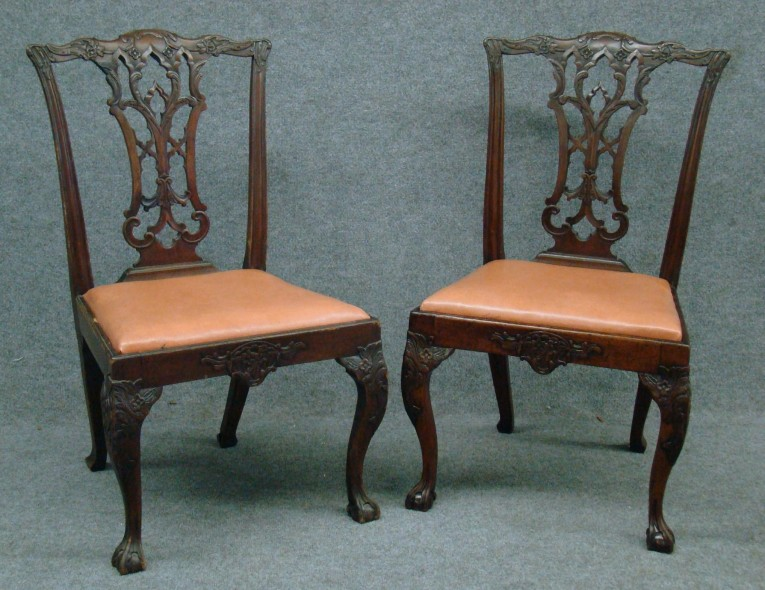 Vivacious Chippendale Chairs With Solid Strong Source With Fascinating Design For Living Room Ideas