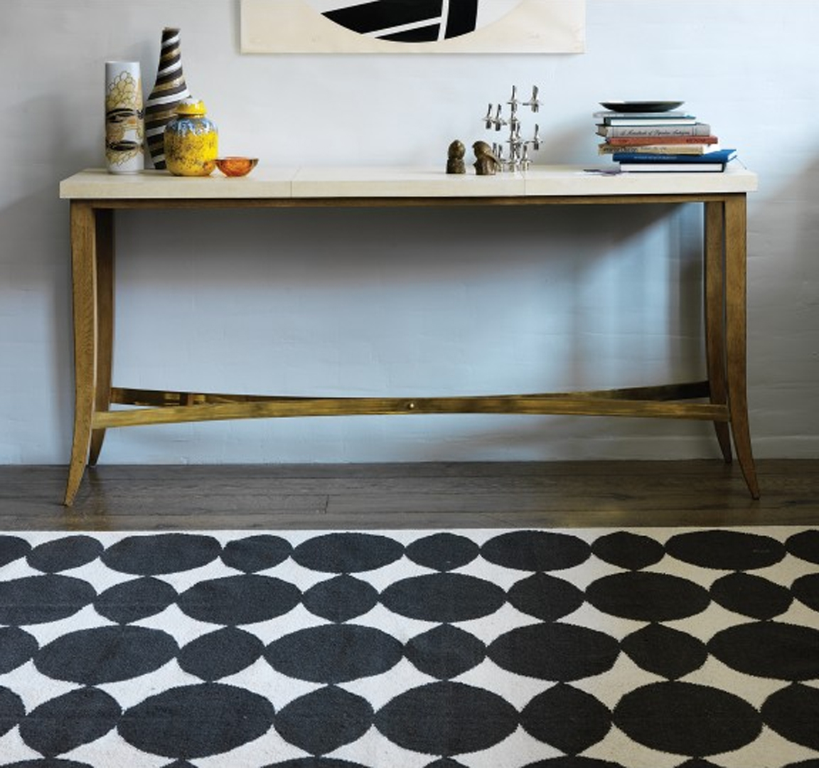 white and black rugs dwellstudio