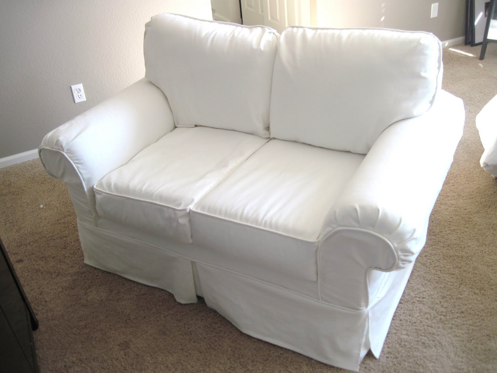 white loveseat sectional sofa covers