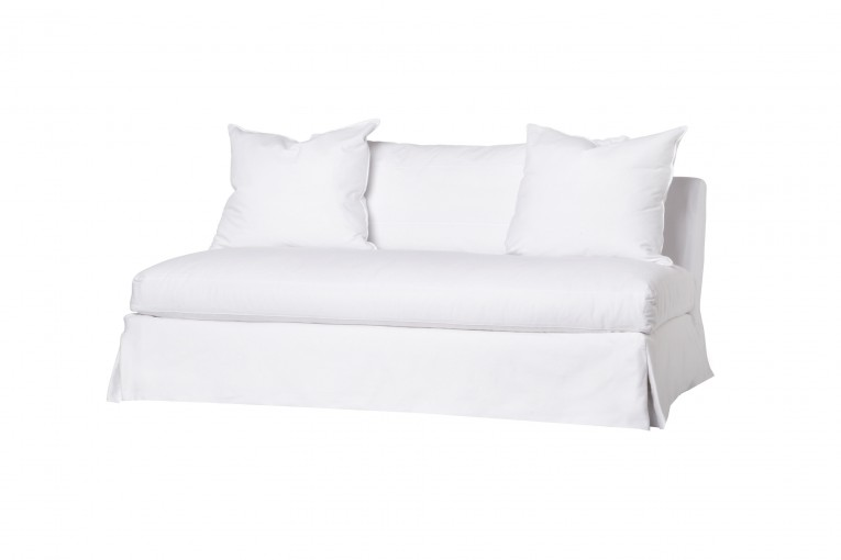 White Sade Loveseat Slipcover Awith Wondrous Furniture