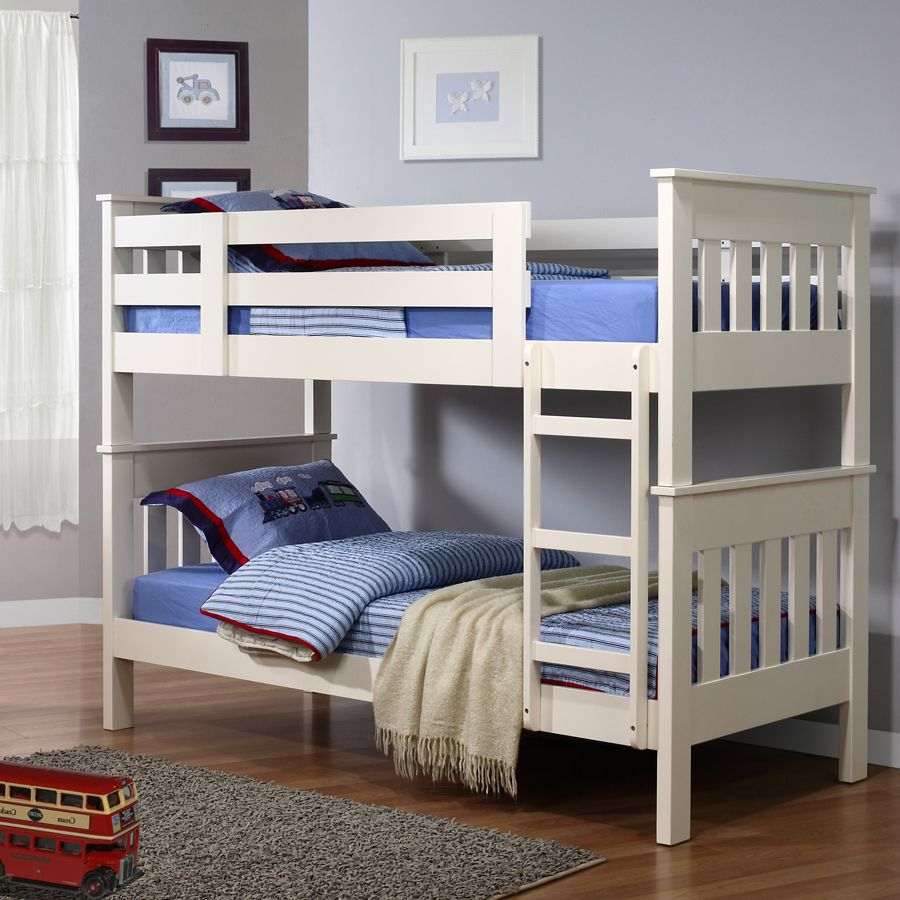white wooden cheap loft beds with rugs