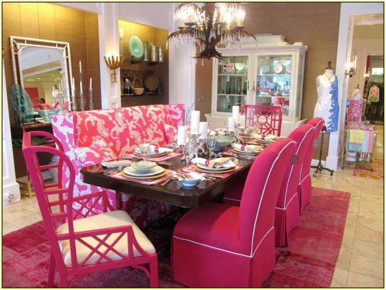 Wonderful Pink Dining Set Furniture From Cynthia Rowley Home
