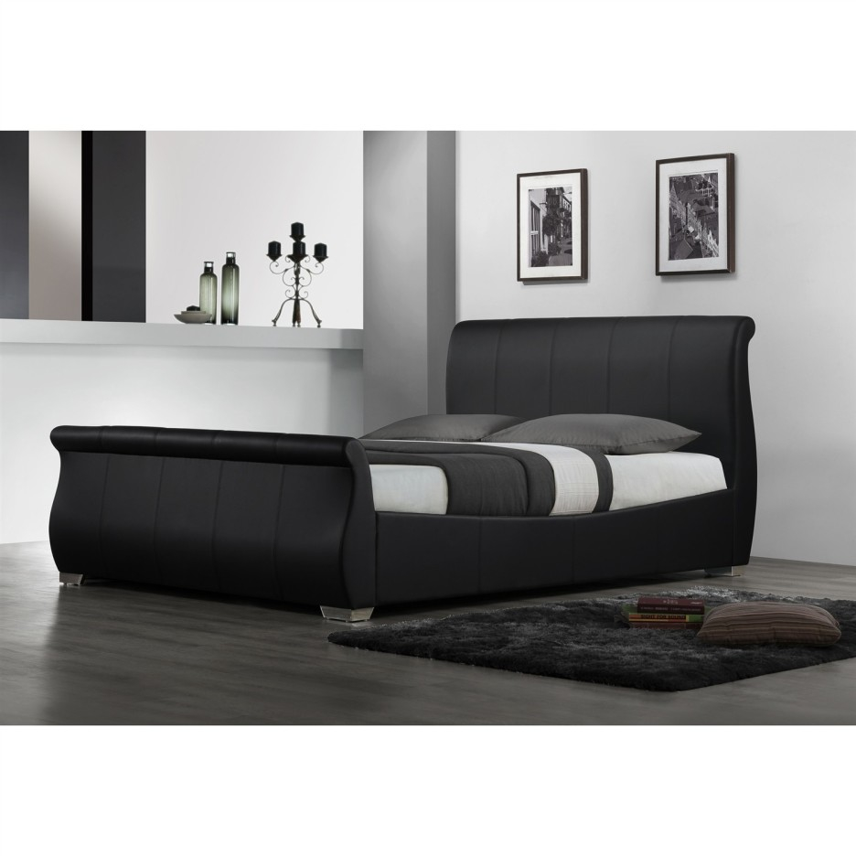 wondrous black queen daybed with rug and black laminate flooring