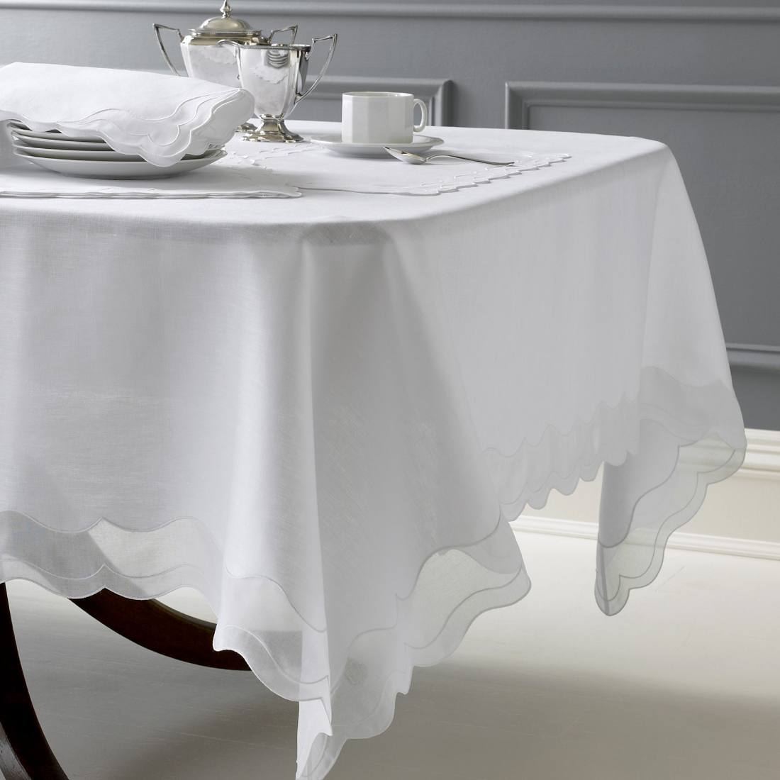 wondrous oblong tablecloth white colors
