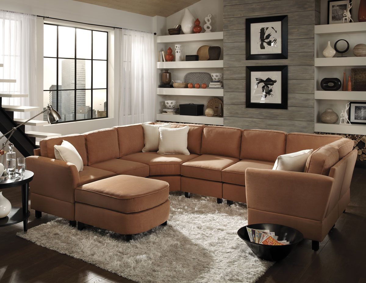 wondrous sectionals sofas with area rugs and round sidetable plus windows