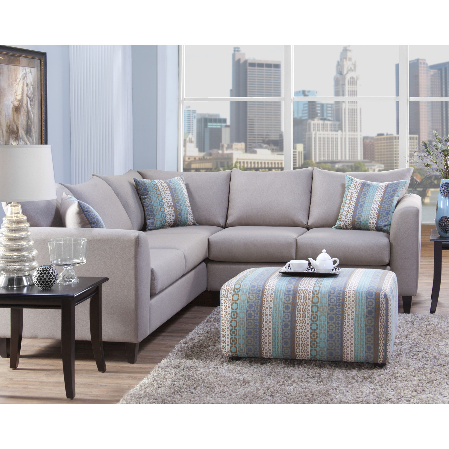 Wondrous Sectionals Sofas With Sidetable And Area Rugs
