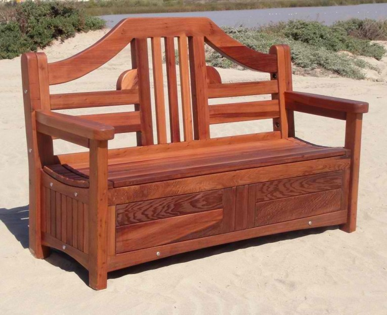 Wondrous Wooden Storage Benches Outdoor