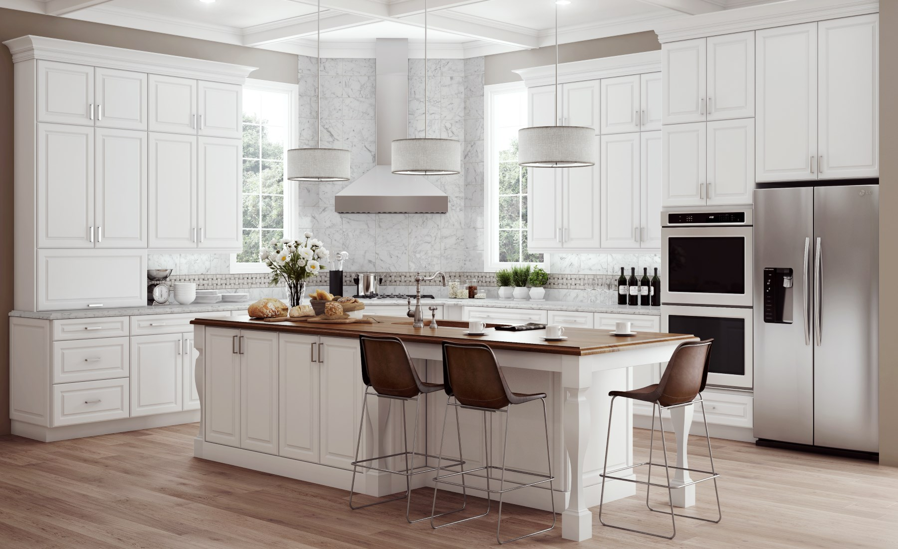 Dining Room: Enchanting Dining Chairs And Butcher Block Also Dining ...