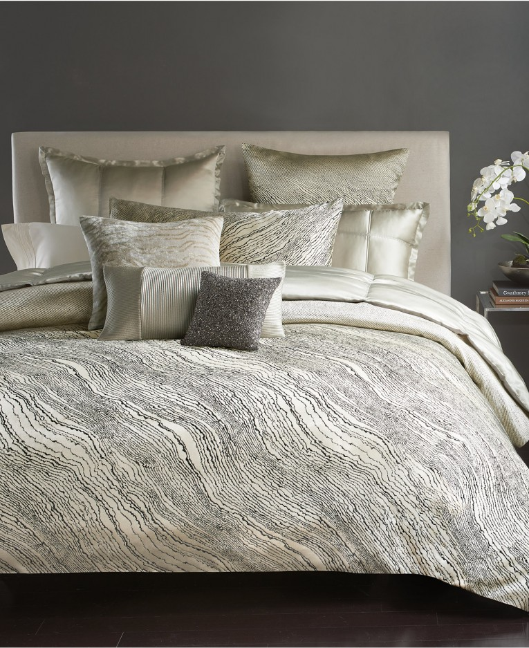 Admirable Donna Karan Bedding With Cushion And Pillows Also Beautiful Duvet Cover And Sidetable And Luxury Wall Paint Color