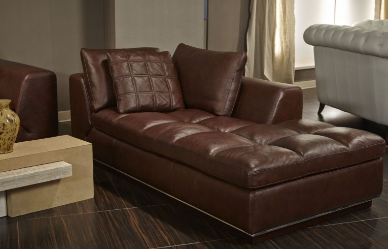 Admirable Leather Chaise With Beautiful Colors And Laminate Flooring Also Unique Interior Display For Living Room Furniture Ideas