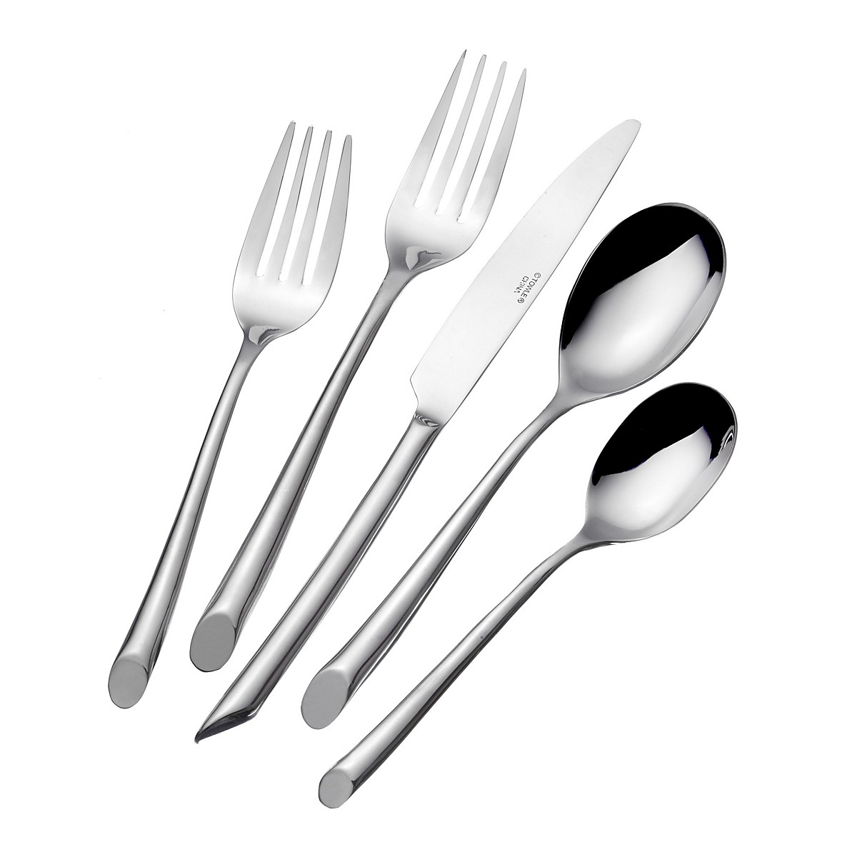 Admirable towle flatware 42 piece stainless steel flatware set for serveware ideas