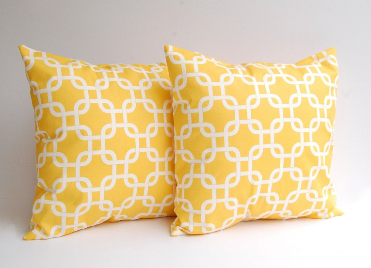 Admirable Yellow Throw Pillows With 20x20 Inches And With True Patterns Yellow Throw Pillows For Living Room Ideas