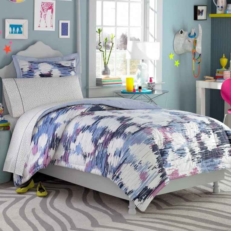 Adorable Comforters For Teens White Cream Blue And Rugs