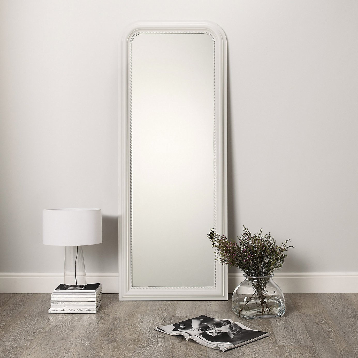 white full length mirror. Adorable Floor Length Mirrors Ornate Ornament Mirror Frame Can Be Place At Your Beautiful Bedroom Ideas White Full