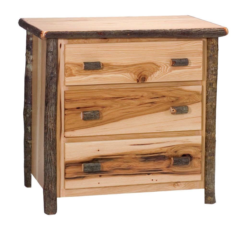 Adorable hickory furniture with wooden large cabinet plus drawers and shelves