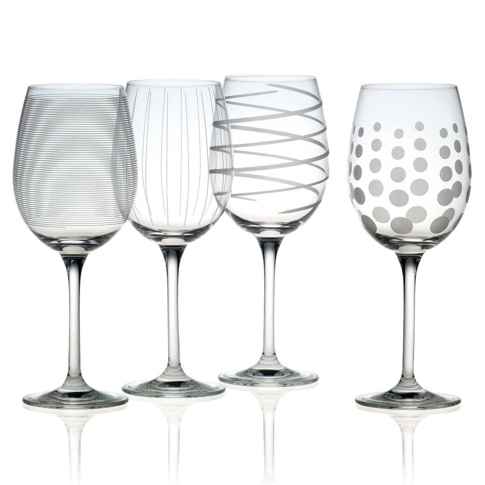 Adorable Mikasa Wine Glasses With Patterns