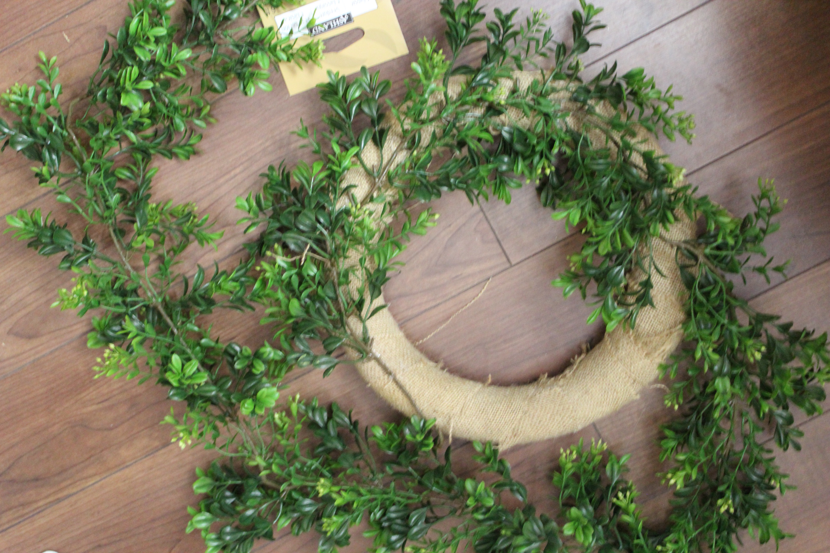 Alluring artificial boxwood wreath with round circle shape and green colors artificial boxwood wreath for outdoor or indoor ideas
