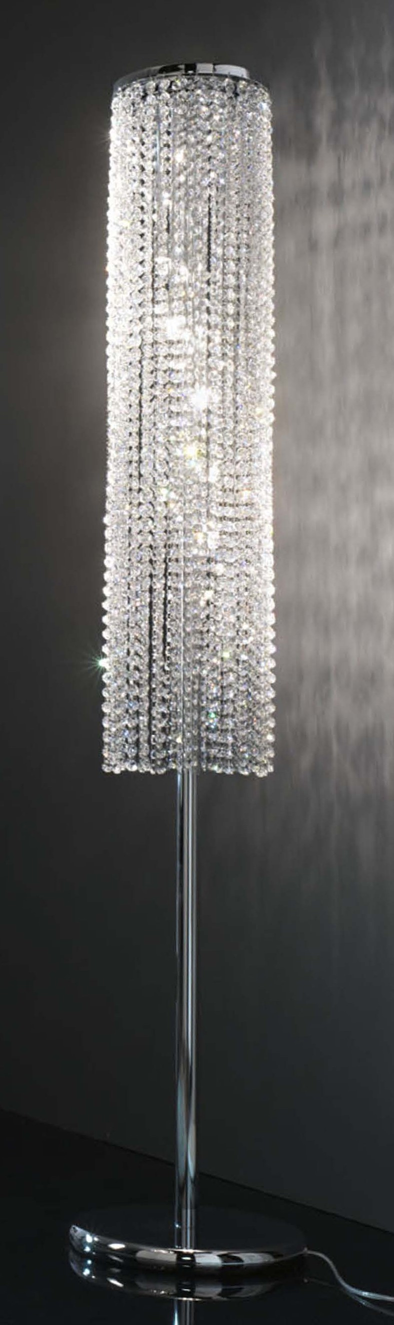 Alluring crystal floor lamp with unique design and good for your home light ideas